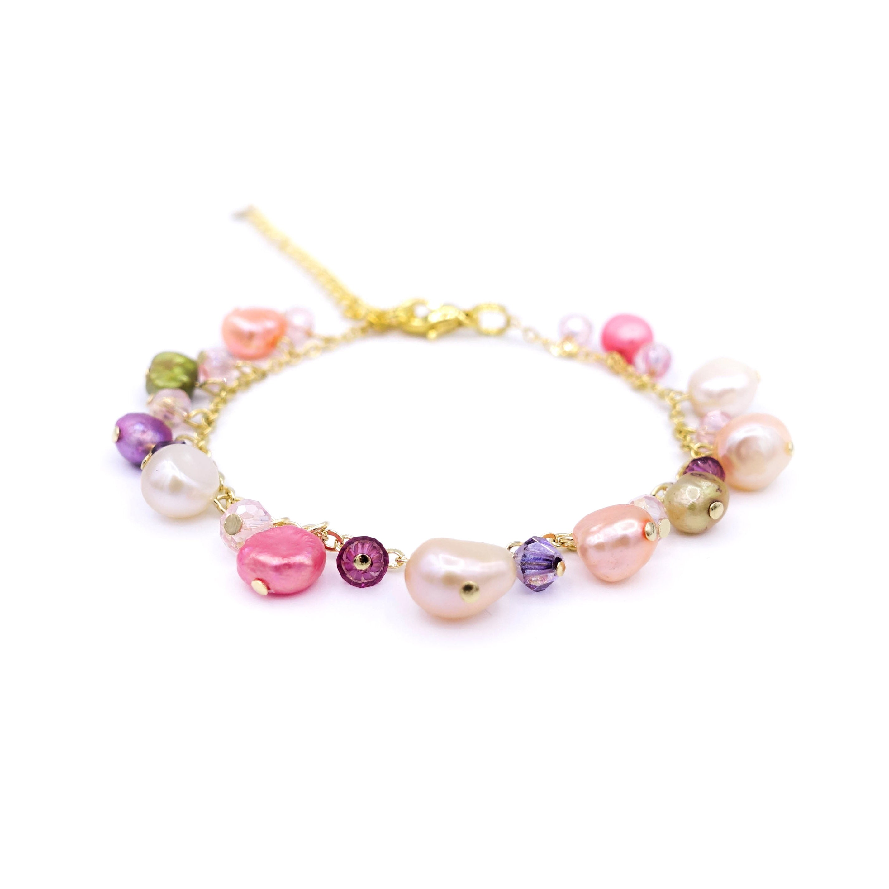 ZINNIA Mermaid Gold-plated 925 Silver Pearl Bracelet