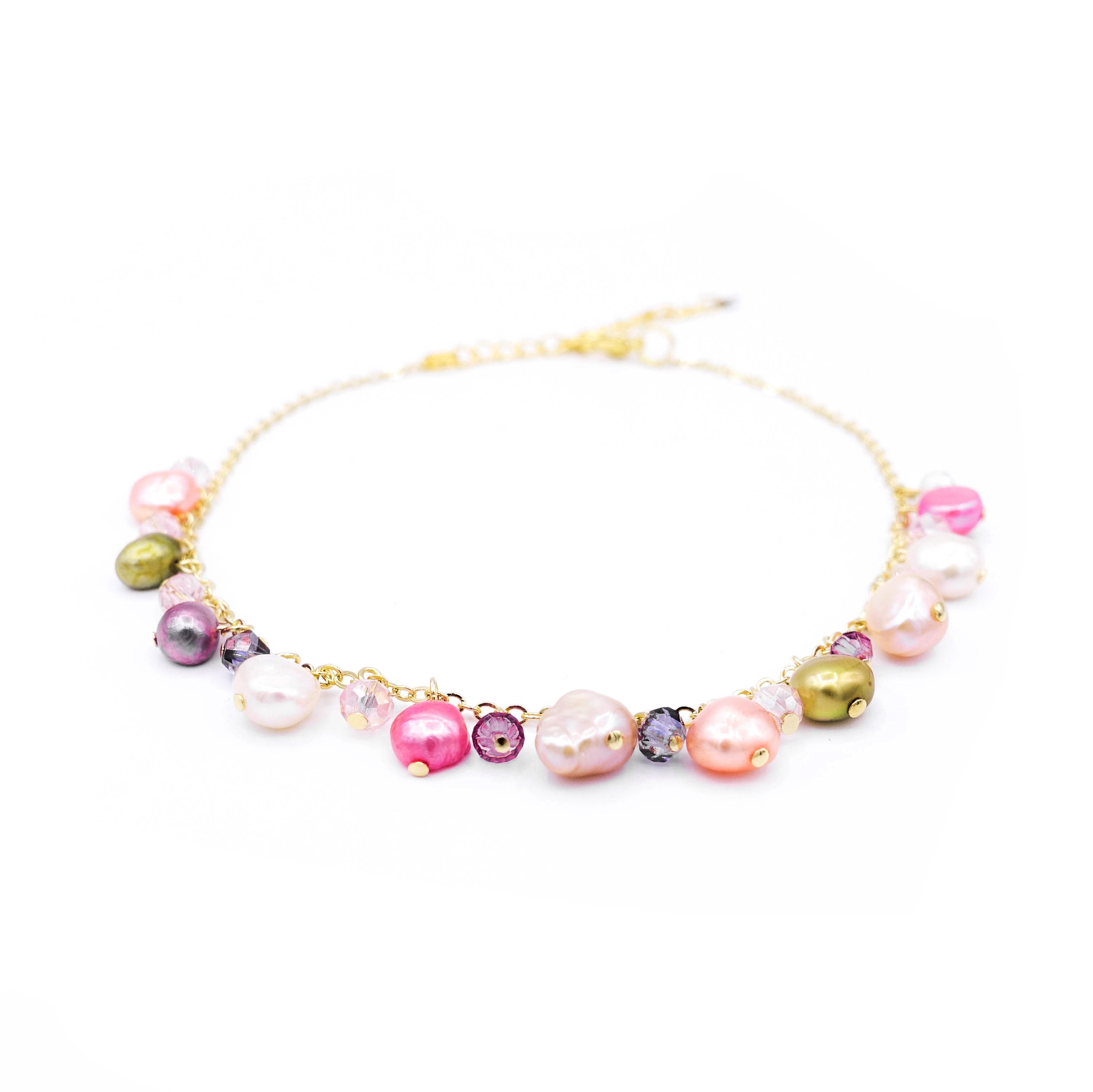 ZINNIA Mermaid Gold-plated 925 Silver Pearl Anklet
