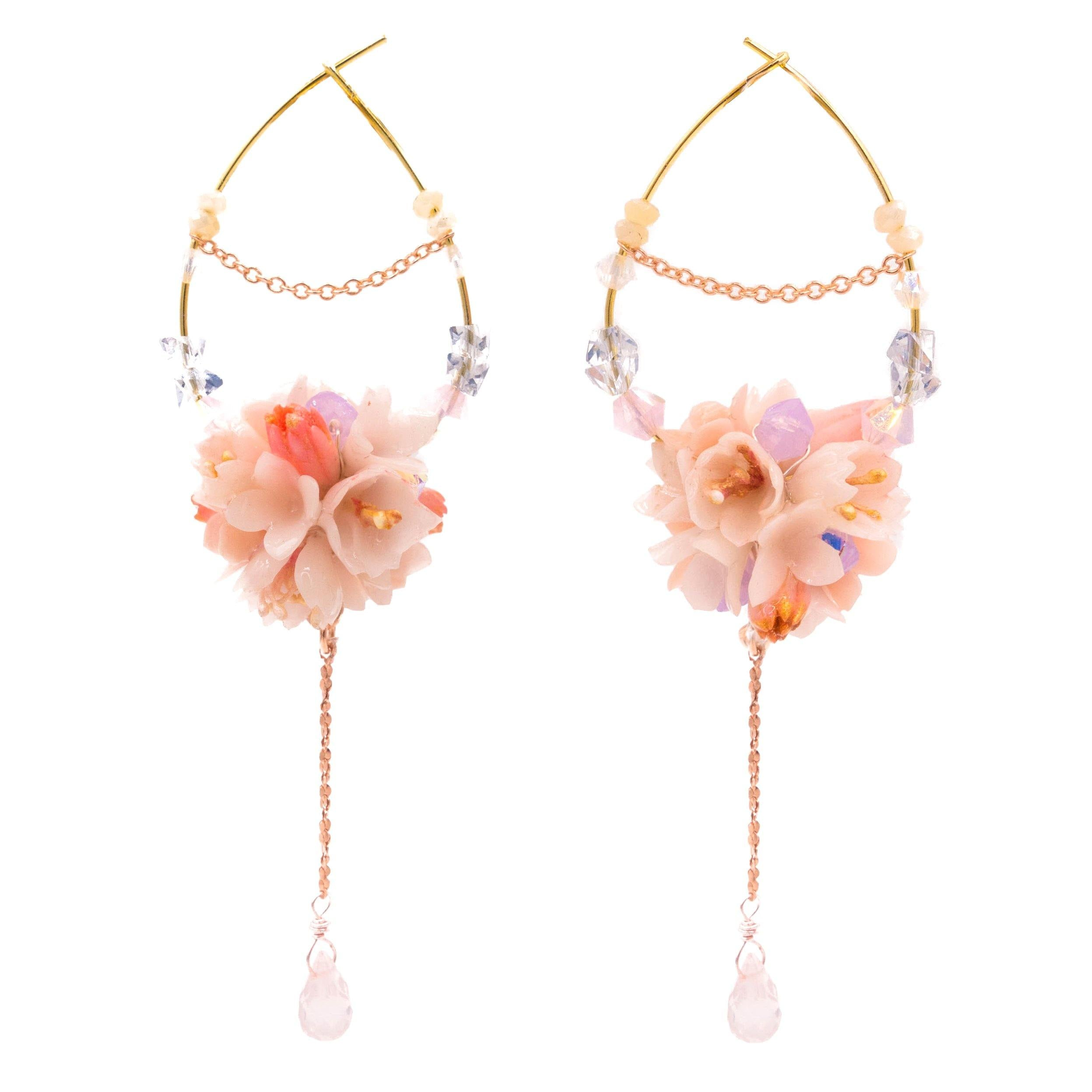 BLOSSOM Bouquet Hoop Gold-plated Earrings