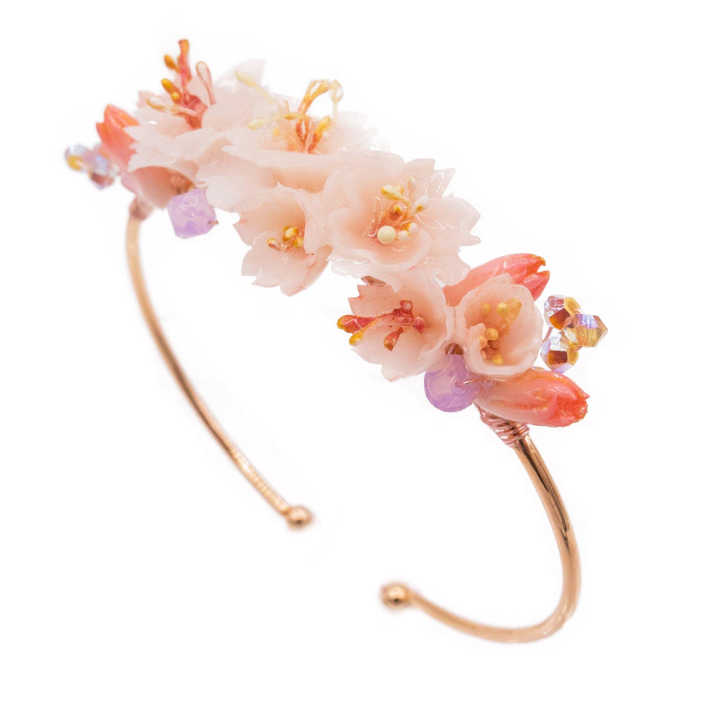 BLOSSOM Bouquet Rose-gold Plated Bangle