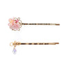 Winter Berry 14K Gold-plated 2 Pieces Hair Clip Set