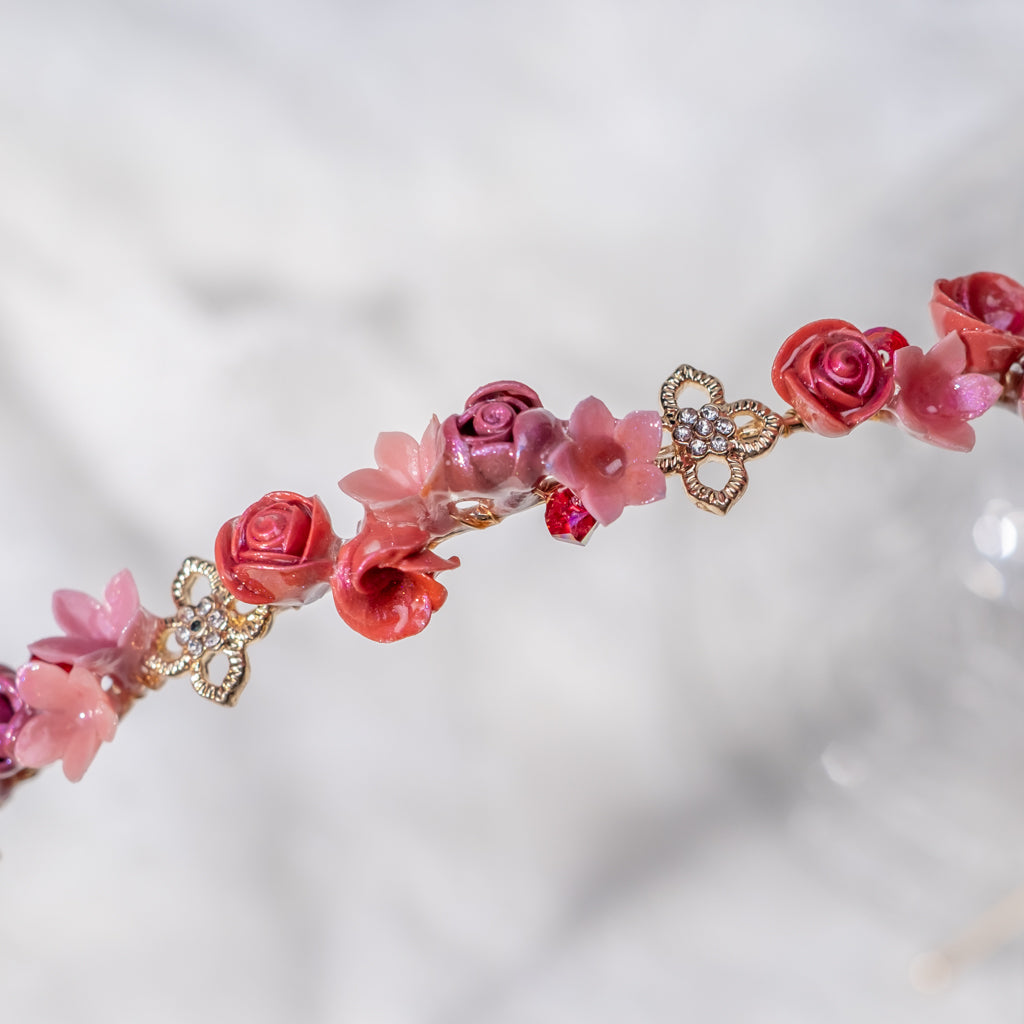 ④ Hairband - Red & White Roses (5 Designs)