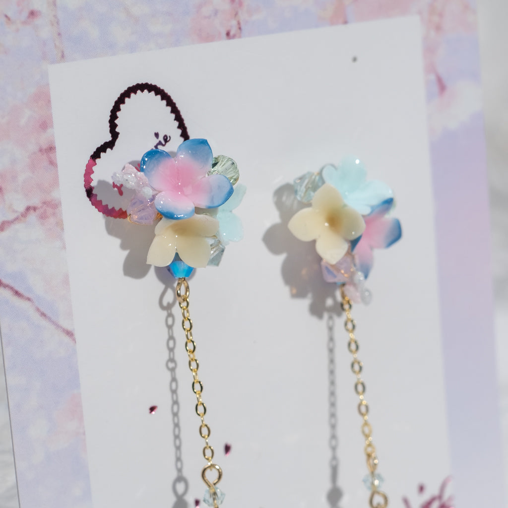 The Bouquet Earrings - Blue Summer (6 Designs)