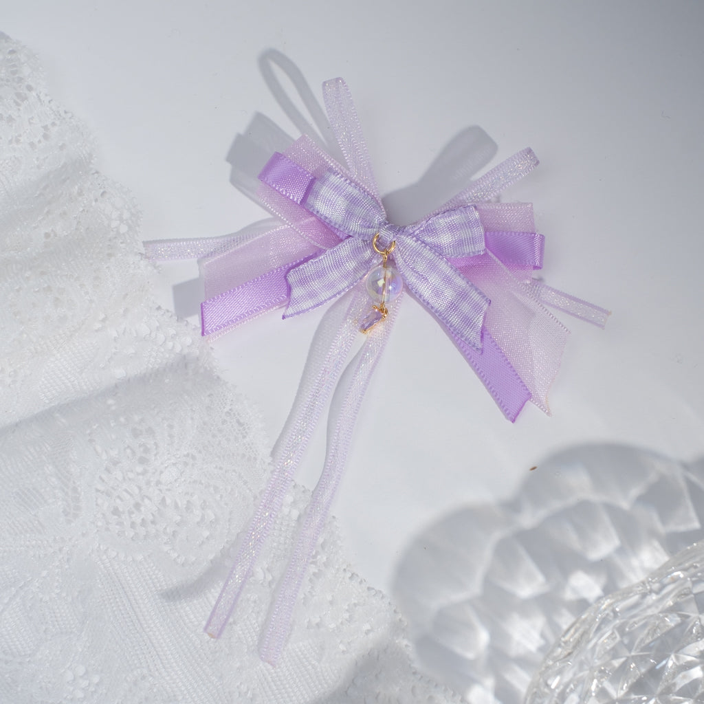 ⑥ 2-way Mini Ribbon Bow Clip-Brooch (11 Designs)