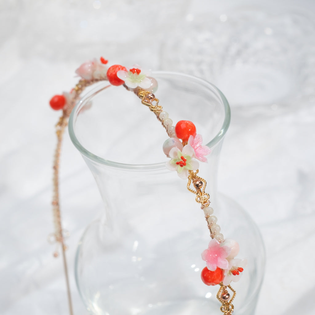 ⑥ Hairband Rainbow - Red, Pink & Coral (7 Designs)