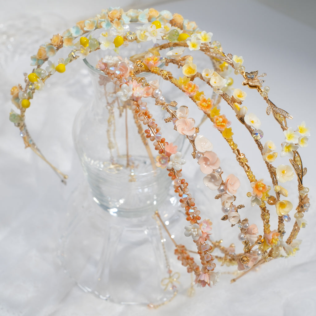 Hairband Rainbow - Beige, Honey & Lemon (7 Designs)