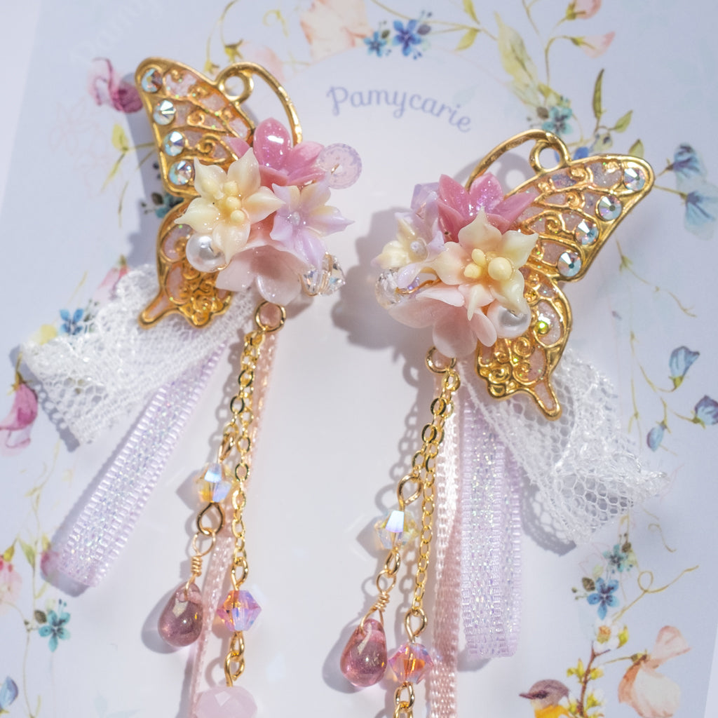 ⑦ Butterfly Earrings (10 Designs)