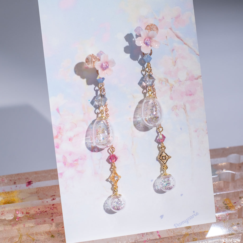 ⑦ 4-in-1 POM POM Earrings (10 Designs)