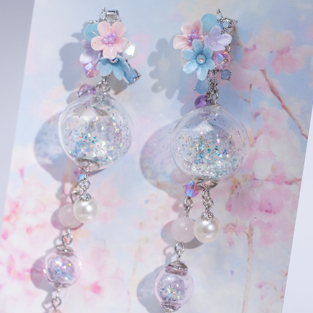 ⑦ Wonderland 2-Way POM POM Earrings (8 Designs)