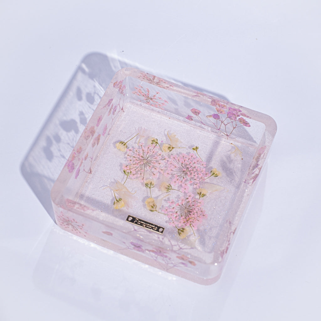 ⑦ Floral Square Plate