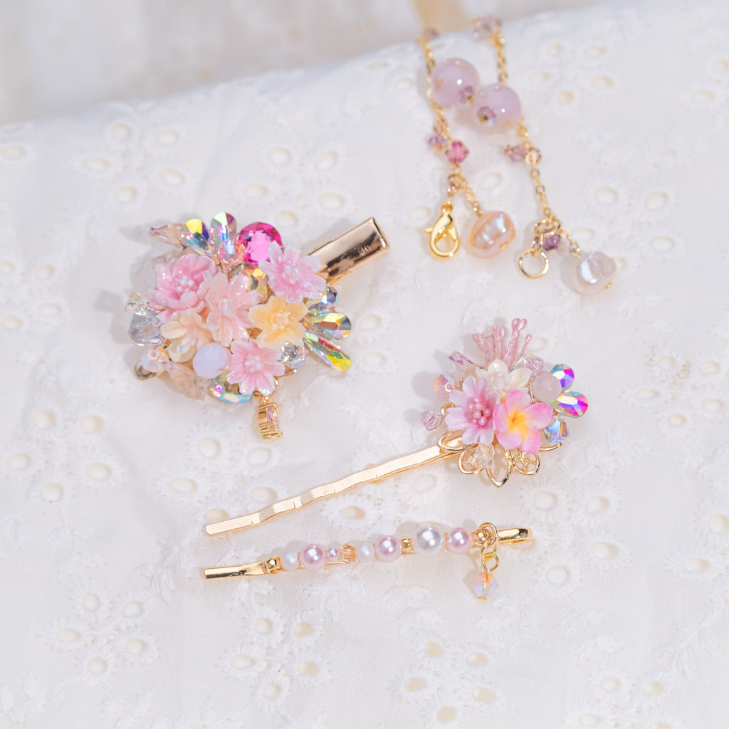 ⑧ Multi-Combination Princess Hair Clip Set (8 Designs)
