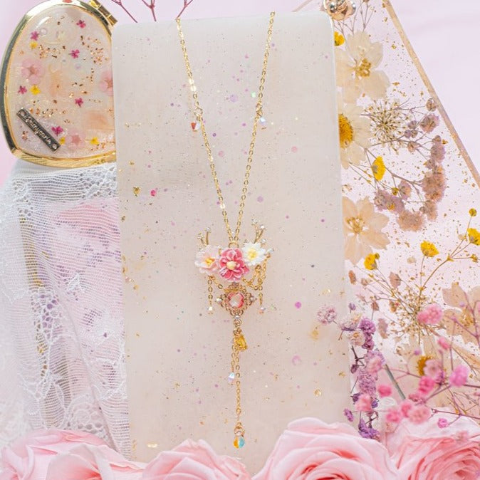 Lady Deer Peony S925 Necklace