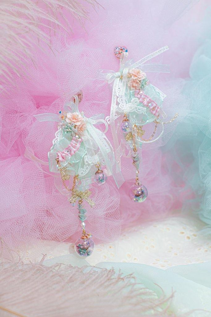 Castle of Cotton Candy Ribbon S925 Earrings