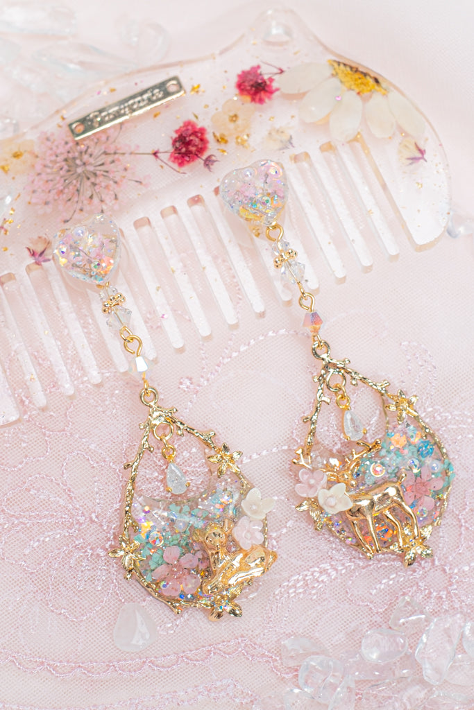 Garden Mirage S925 2-way Earrings