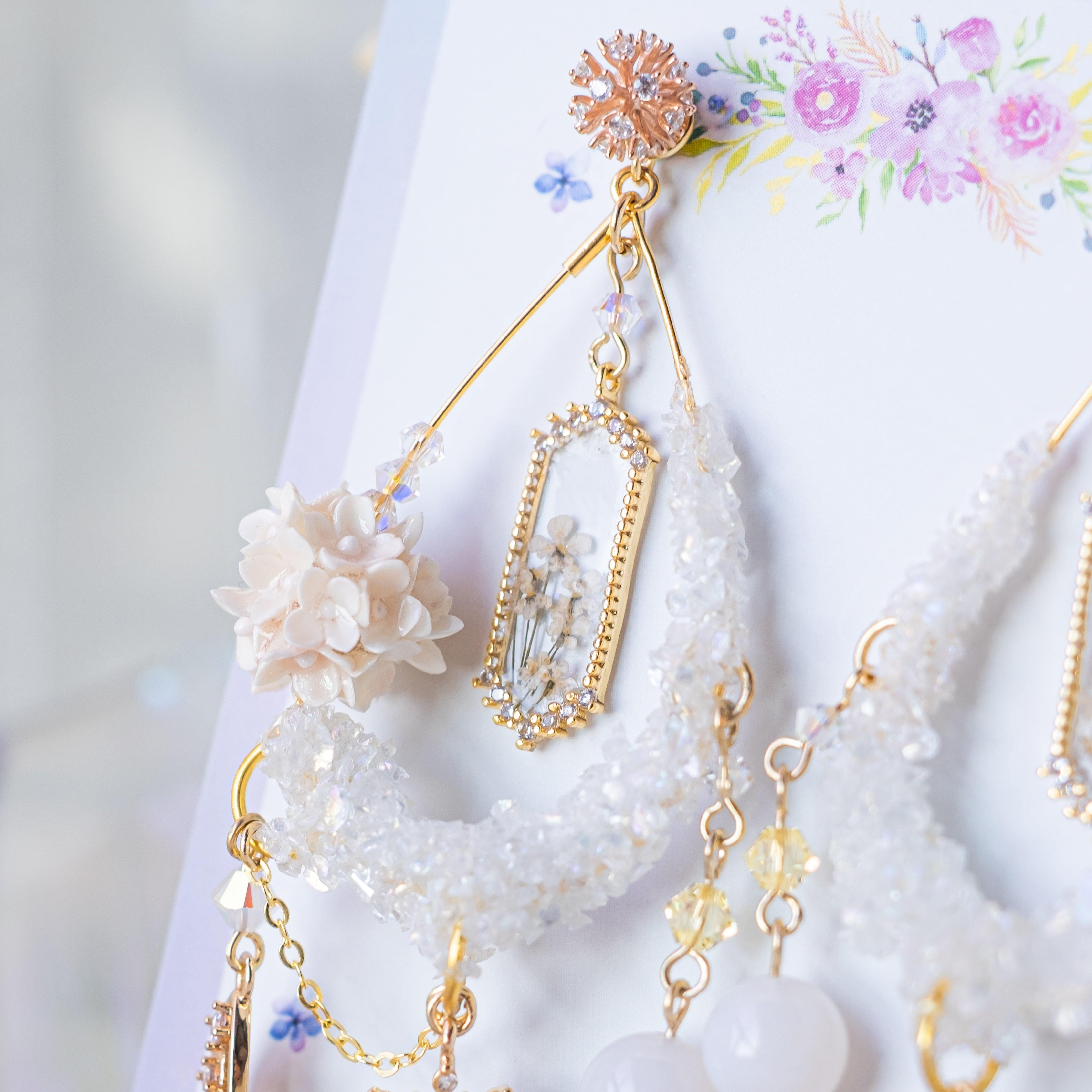 "➀➀ ""Rainbow Collection"" Mini Bouquet Earrings (7 Designs) - Pamycarie Hong Kong"