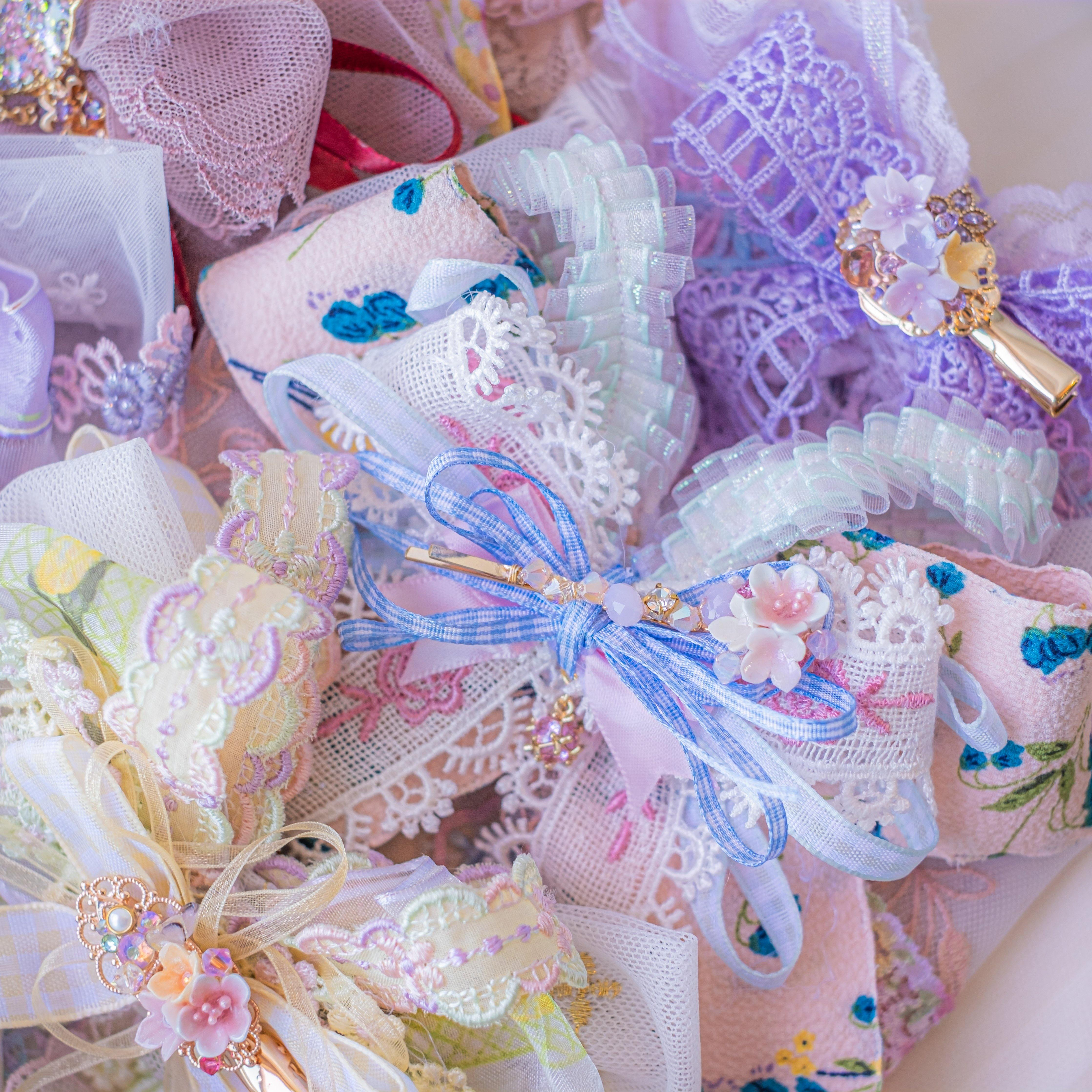"➀➀ ""Soft Heaven"" 2-way Ribbon Clip (8 Designs)"
