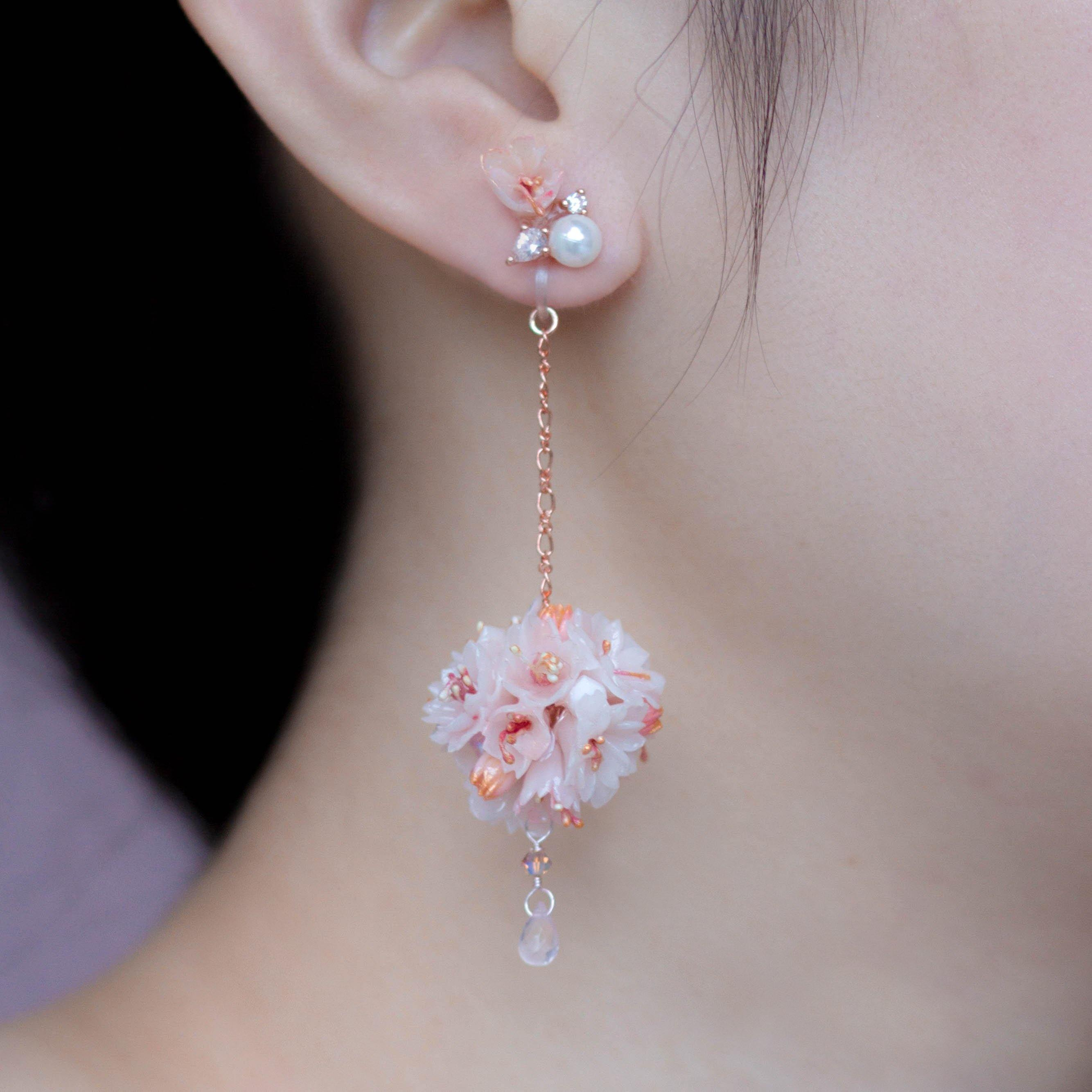 BLOSSOM Bouquet 2-way 925 Silver Earrings