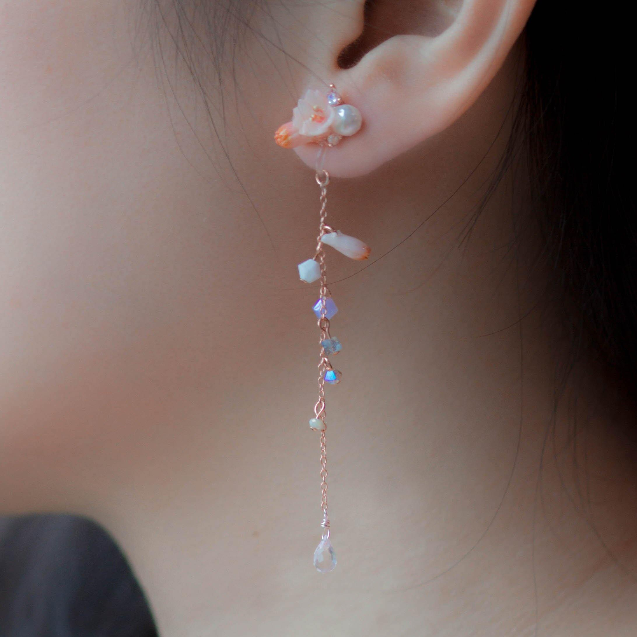 BLOSSOM Sakura 2-way 925 Silver Earrings