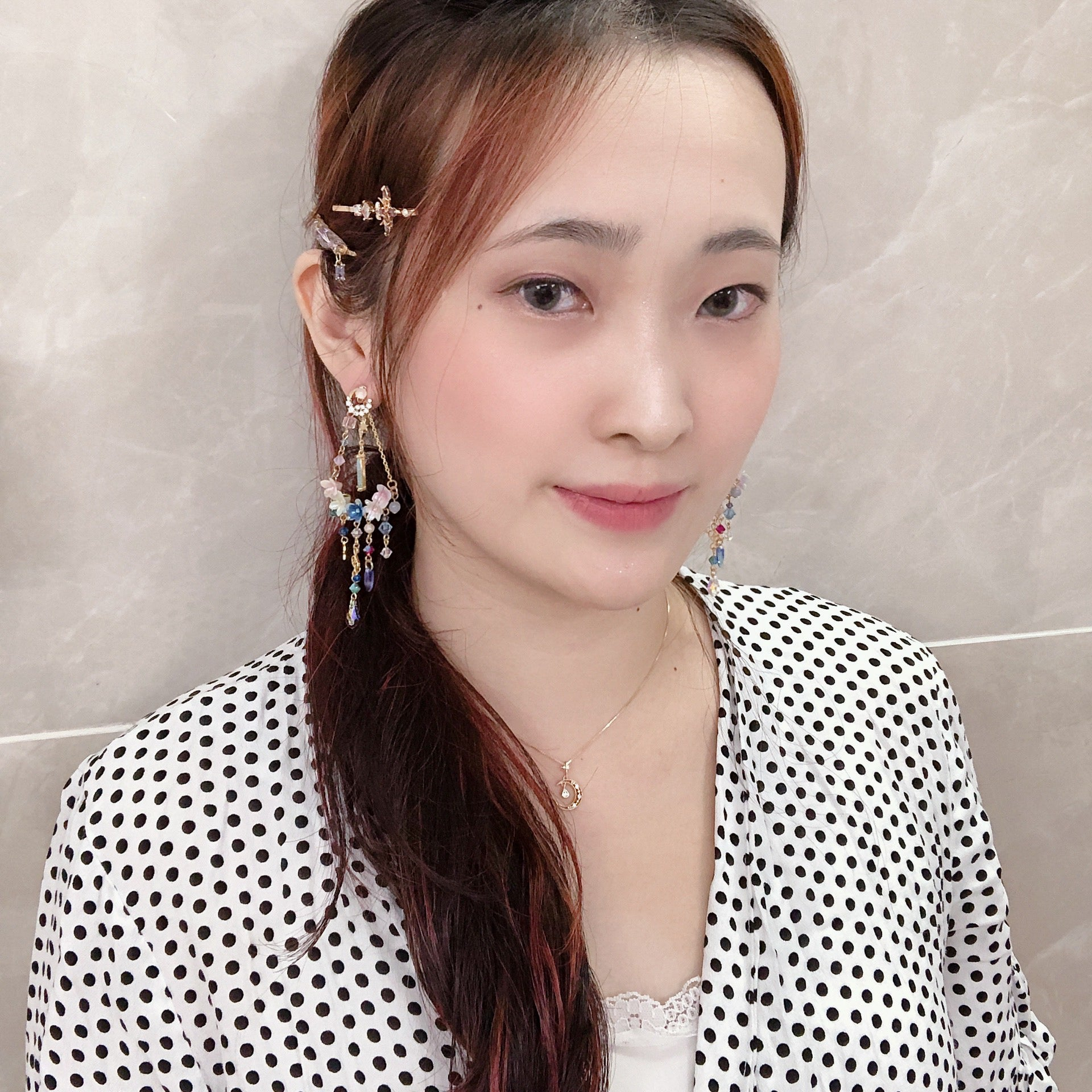 ⑧ 4-way Floral Swing Earrings (11 Designs)