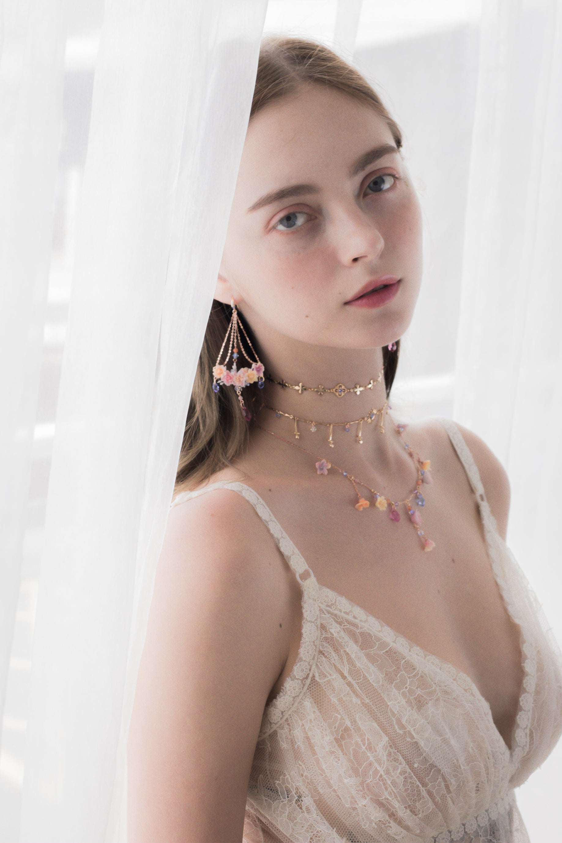 The Censors Rose-Gold plated 925 Sliver Swing Earrings