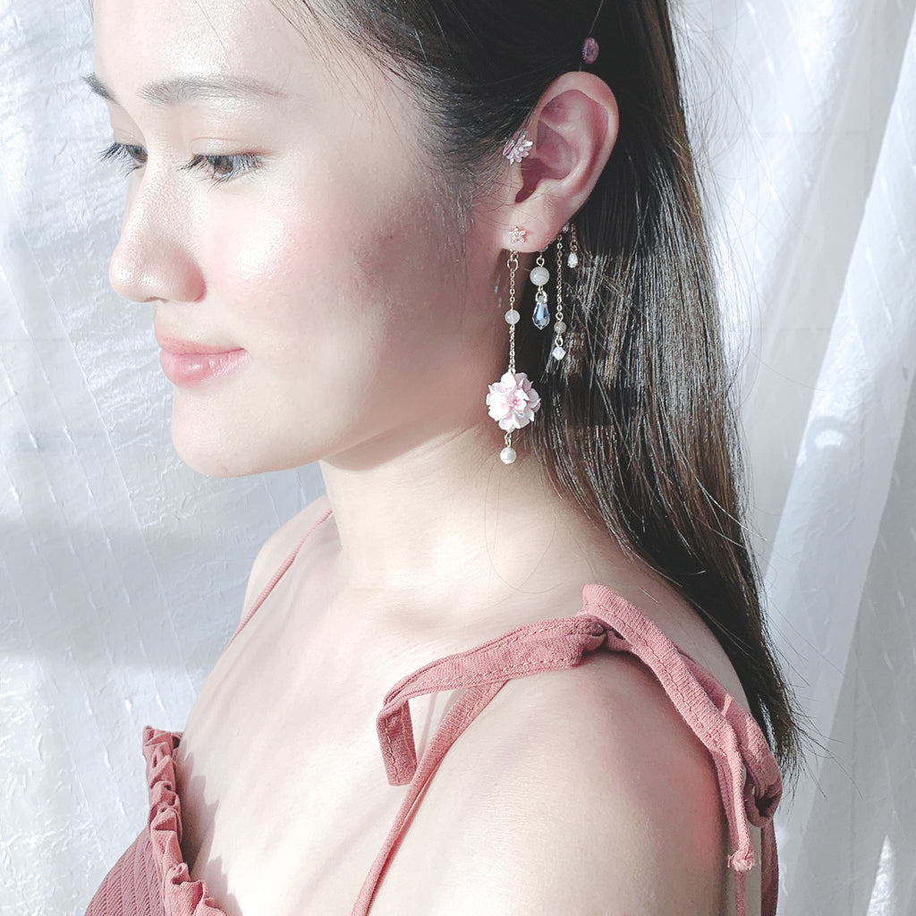 ⑦ Floral Tassels Ear Hook Clip Earrings (11 Designs)