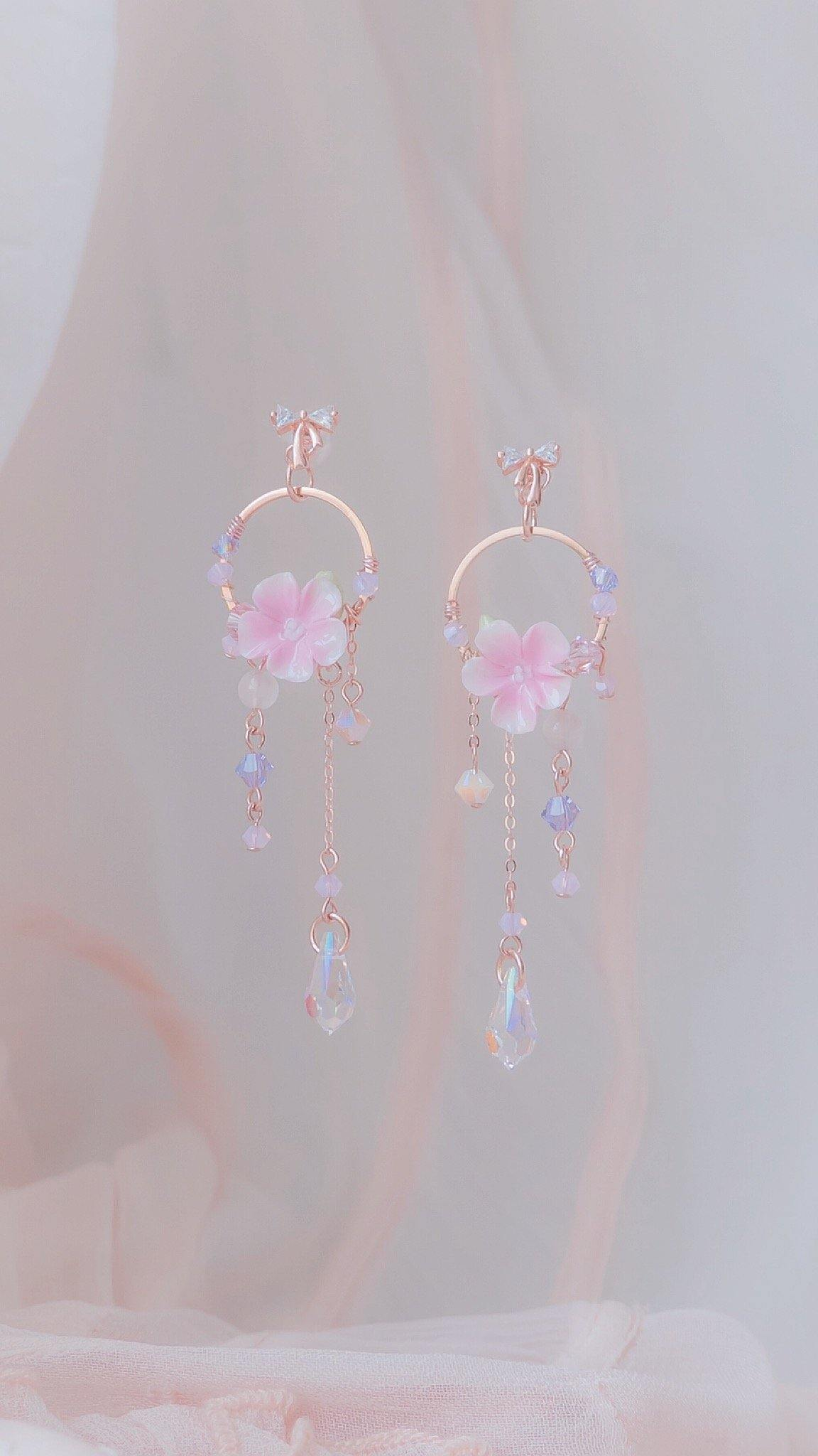 #8 ZODIAC Virgo Violet Bloom Dream Catcher Rosegold-plated 925 Silver Earrings - Pamycarie Hong Kong