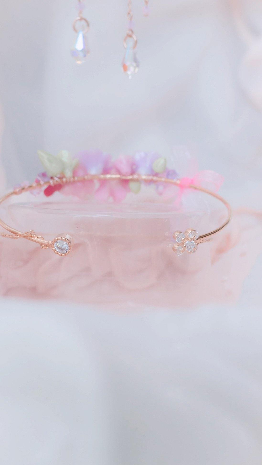 #8 ZODIAC Virgo Violet Aroma Ribbon Rosegold-plated Bouquet Bangle