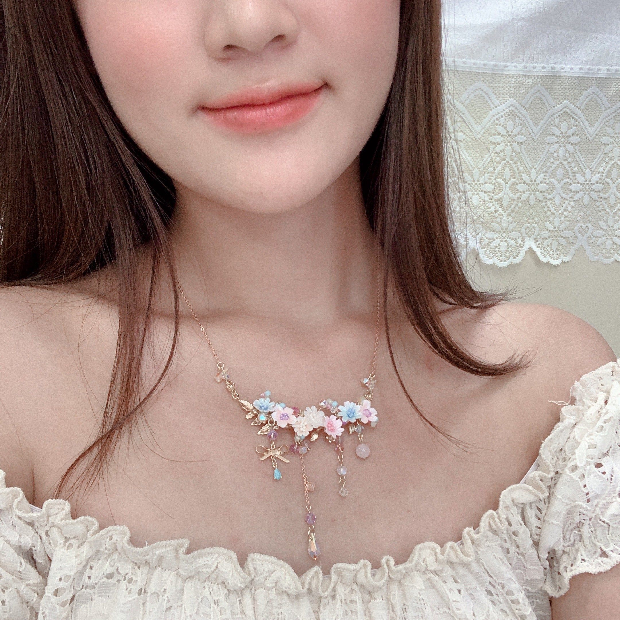 ⑧ Blooming Bouquet Necklace (5 Designs)
