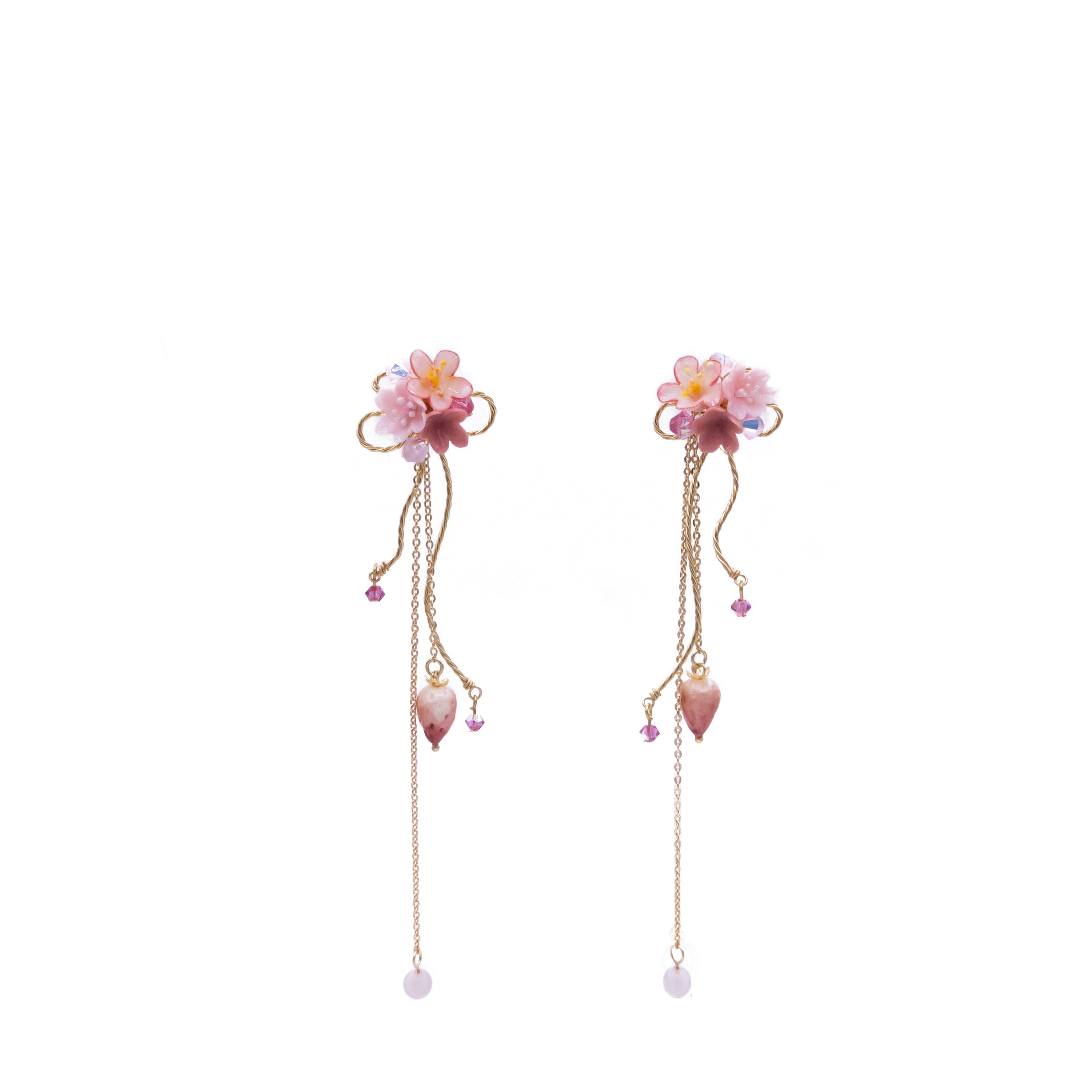 Venus's Kiss 5-in-1 14K Gold-plated 925 Silver Earrings (with detachable ear cuff)