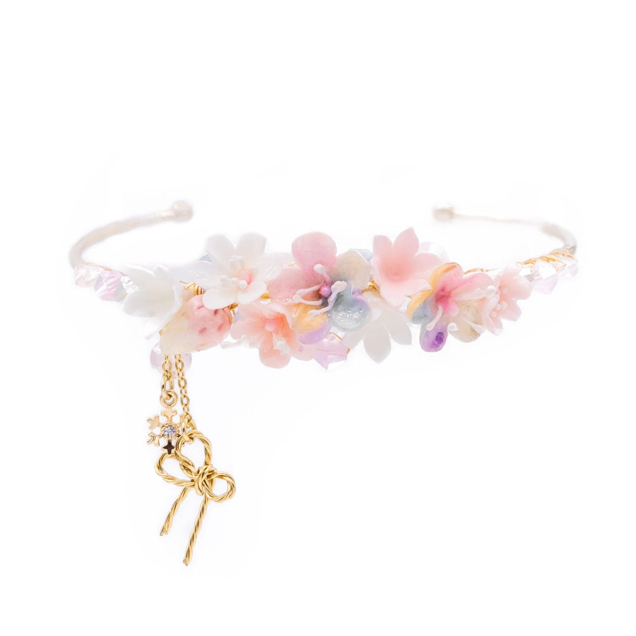 Aurora Starry Night Floral 14K Gold-plated Bangle