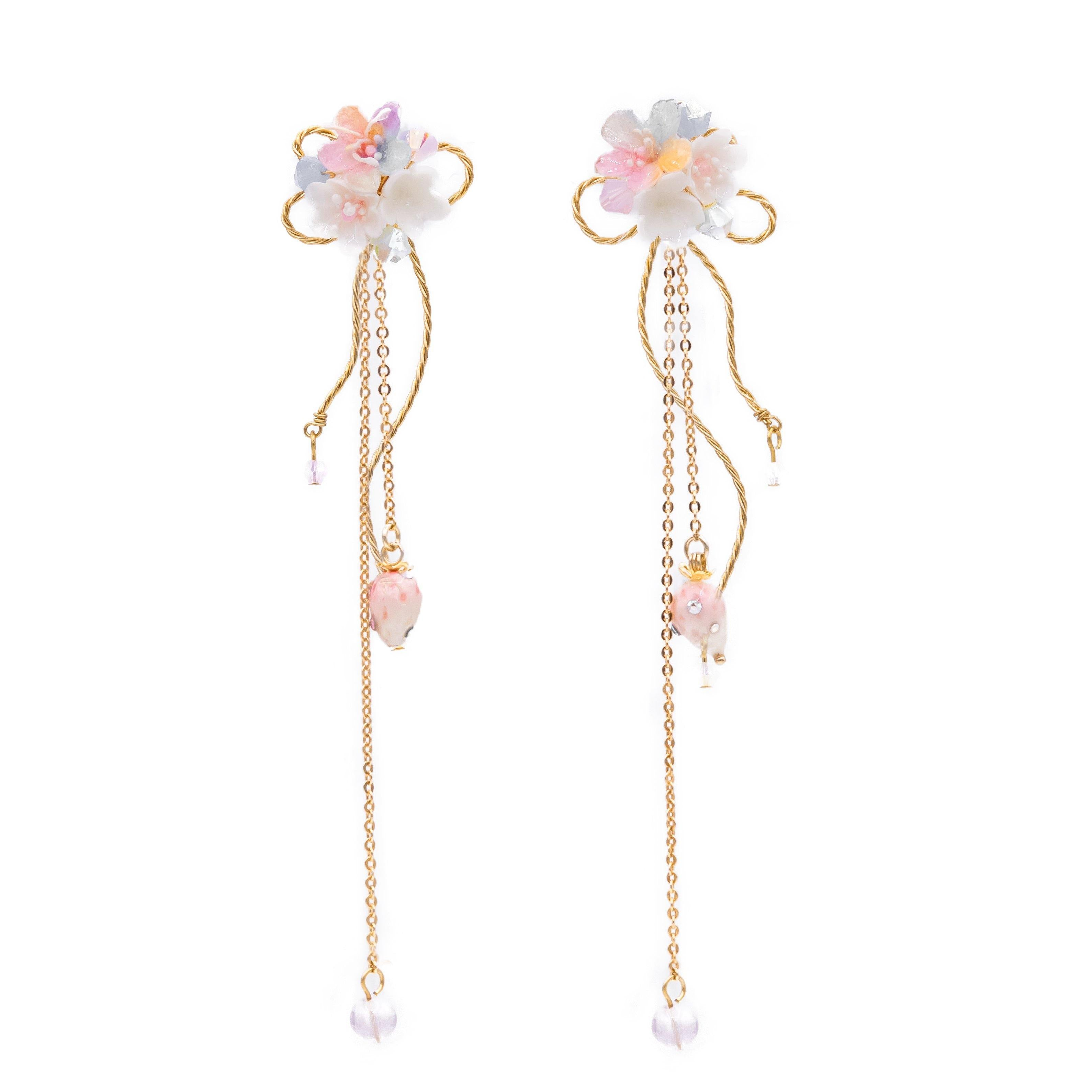 Aurora's Kiss 5-in-1 14K Gold-plated 925 Silver Earrings (with detachable ear cuff)