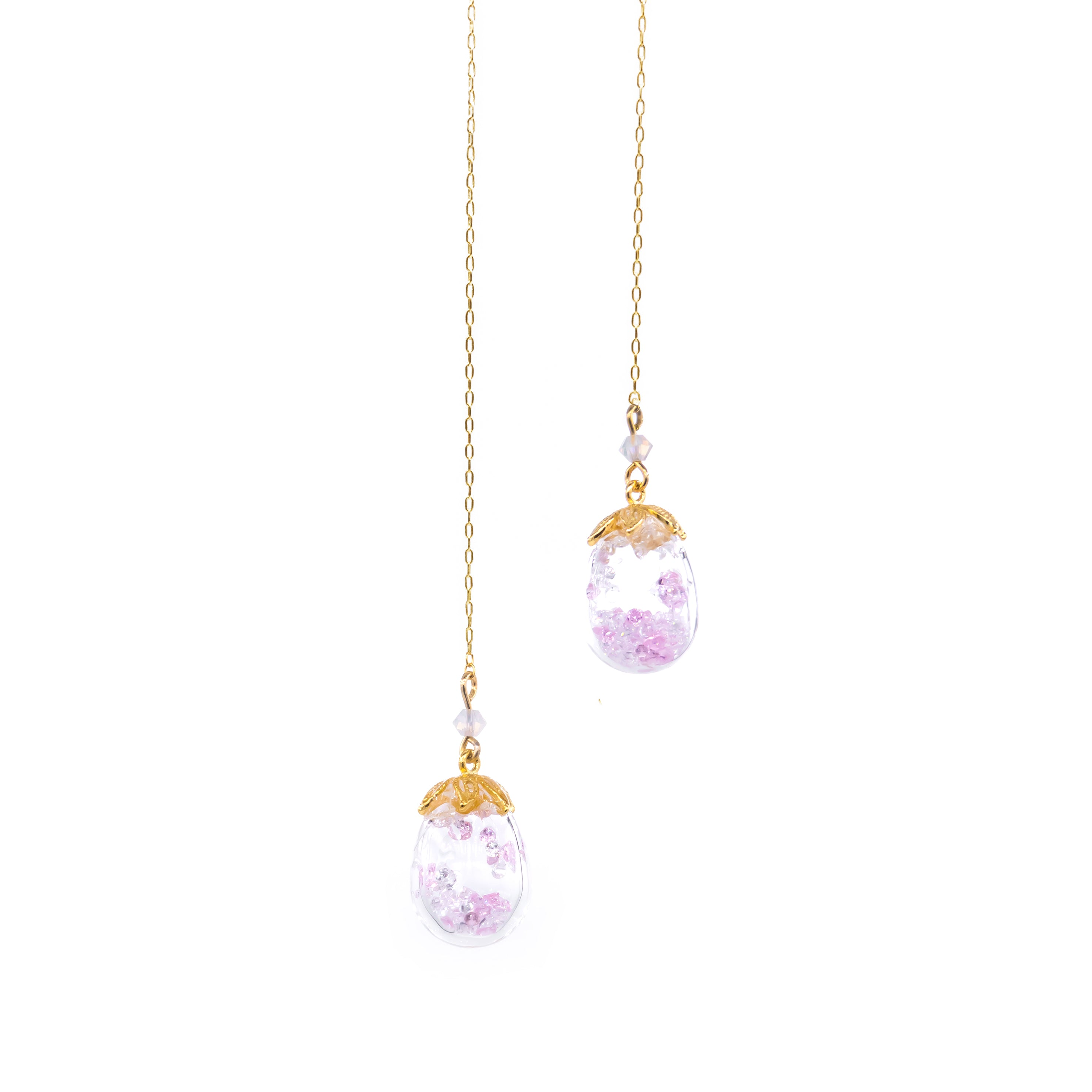 Snowy Aurora Bouquet 2-way 14K Gold-plated 925 Silver Necklace (with transformable POM POM choker)