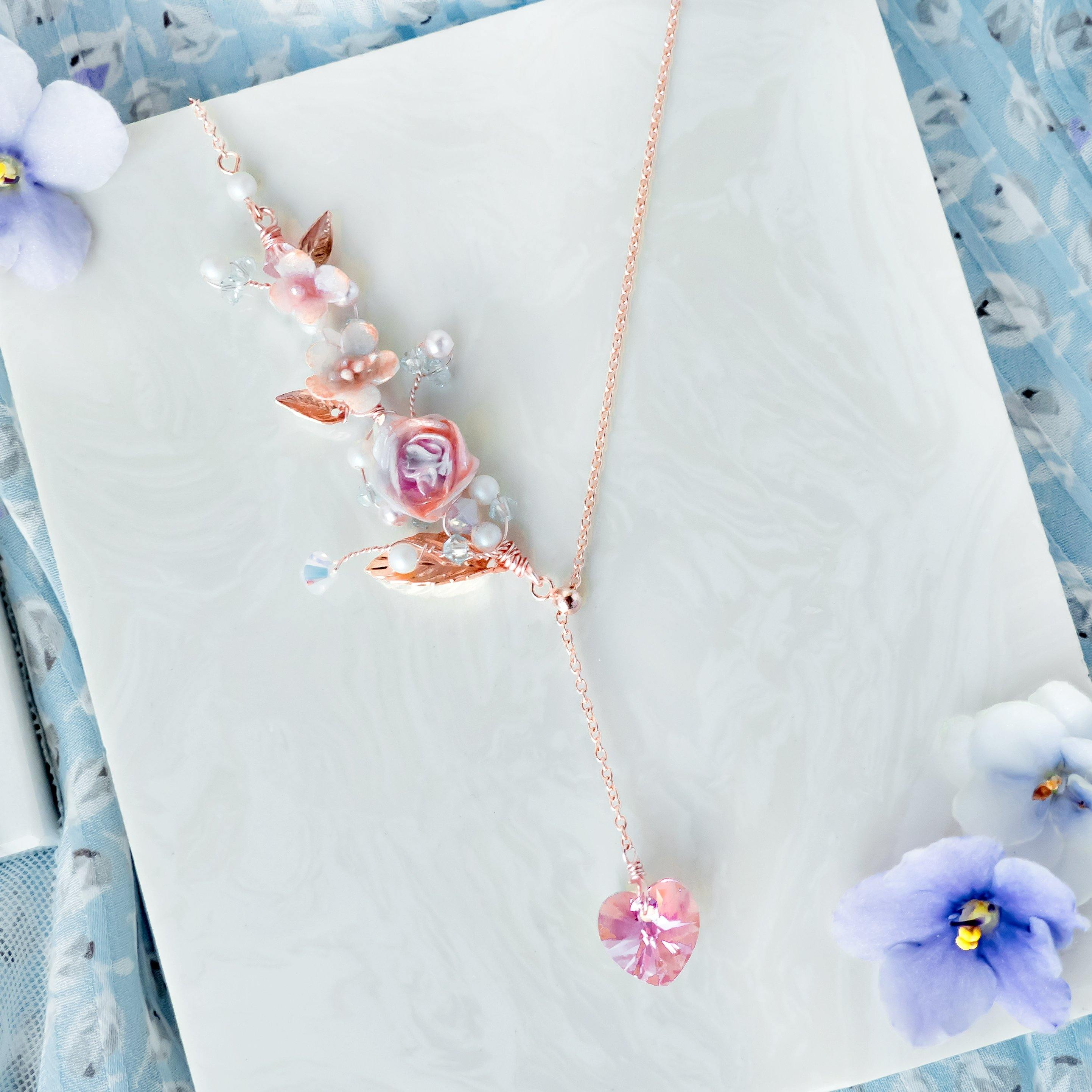 #1 ZODIAC Aquarius Garden Rose Necklace