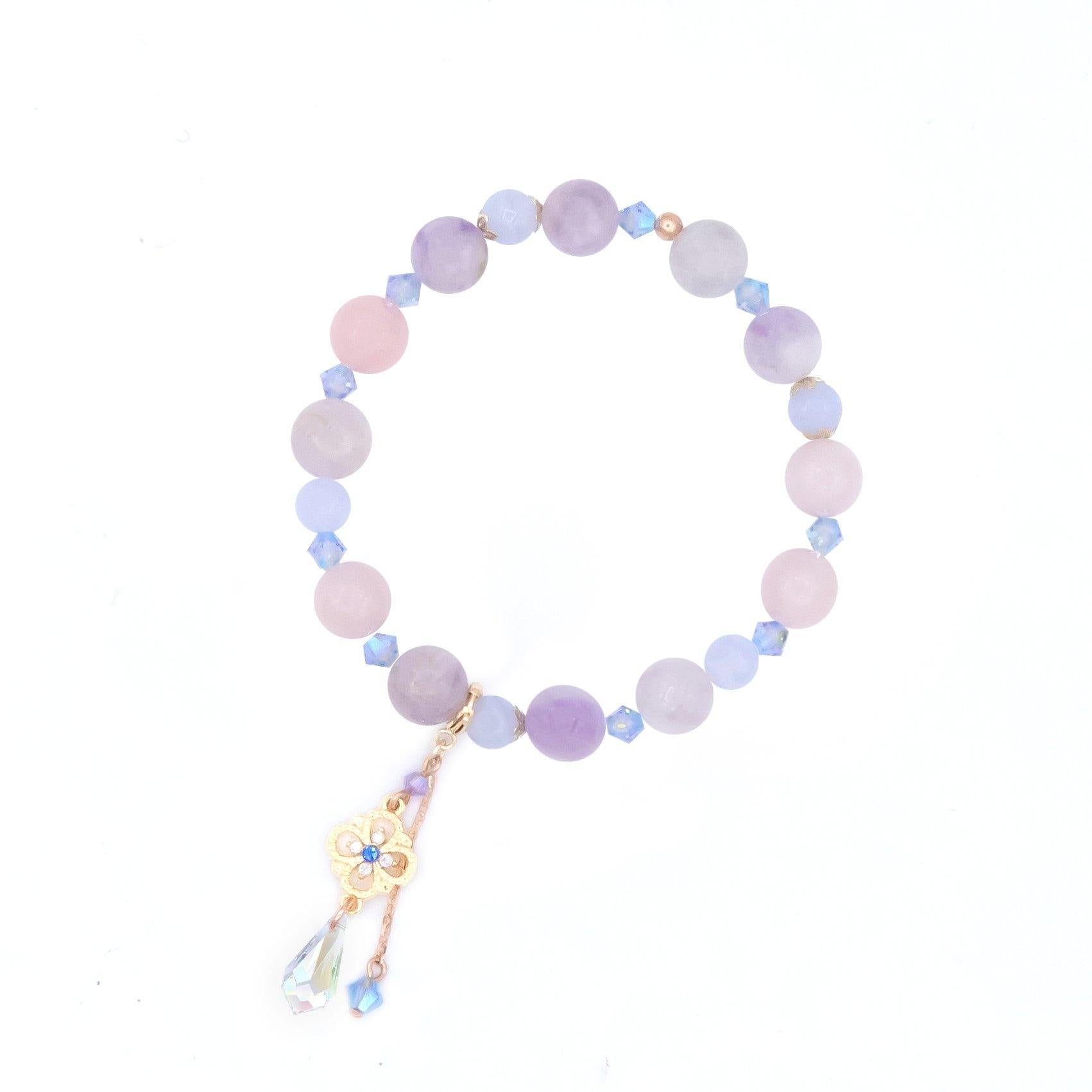 Beyond Dreamy Mixed Natural Quartz Bracelet (with a detachable pendant)