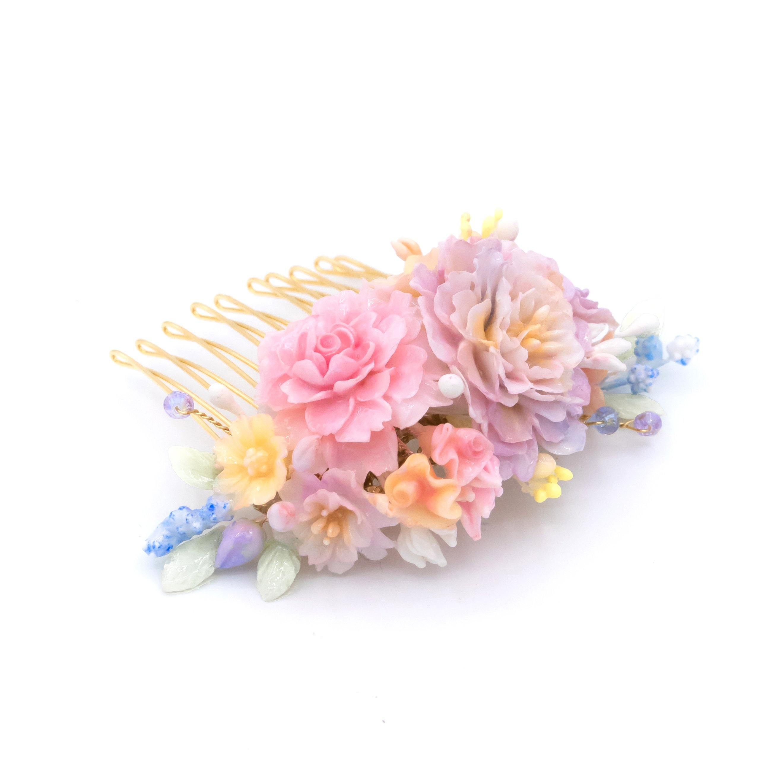 Allusion Gold-plated Floral Hair Comb