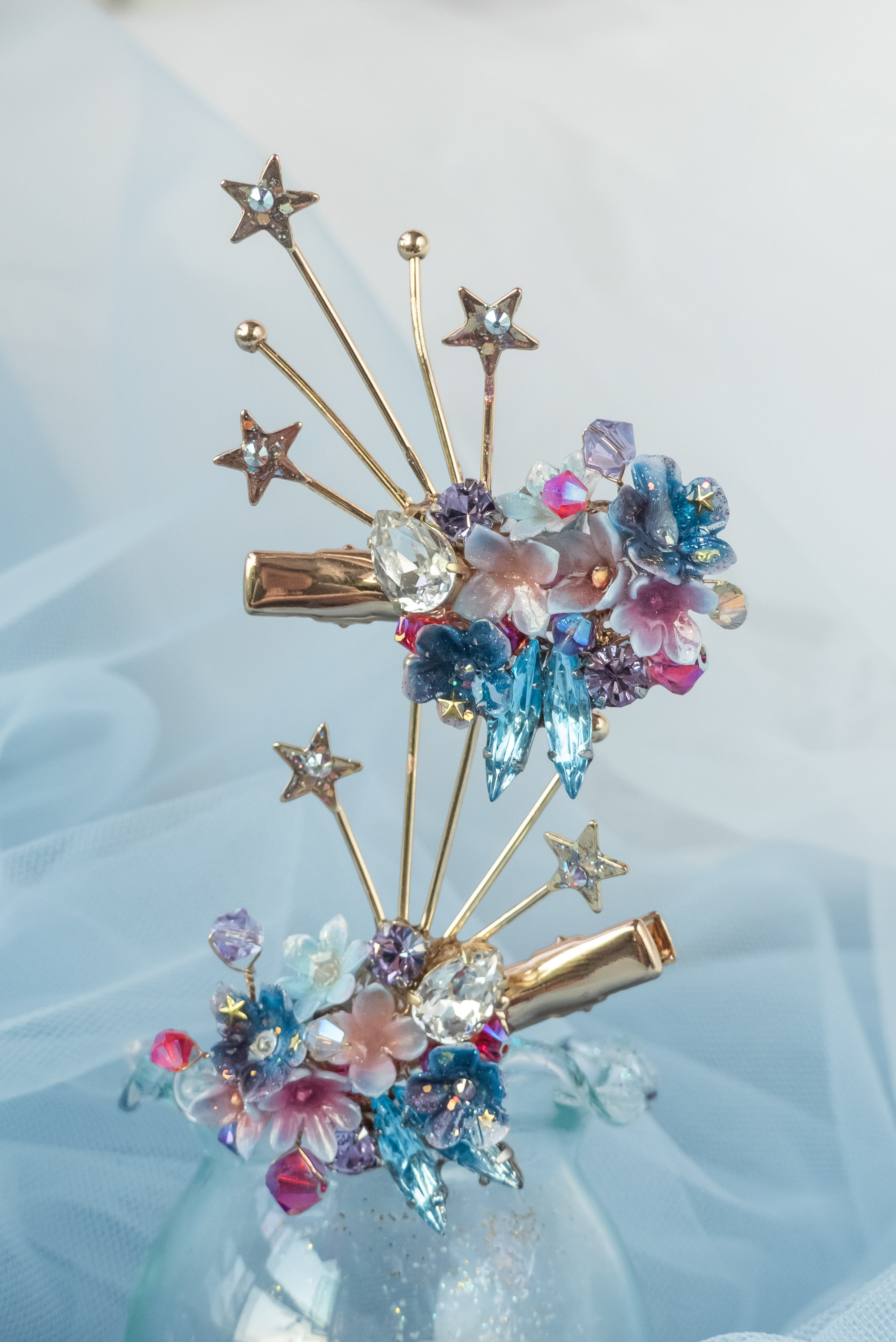 Sparklers CZ Gold-plated Hair Clip