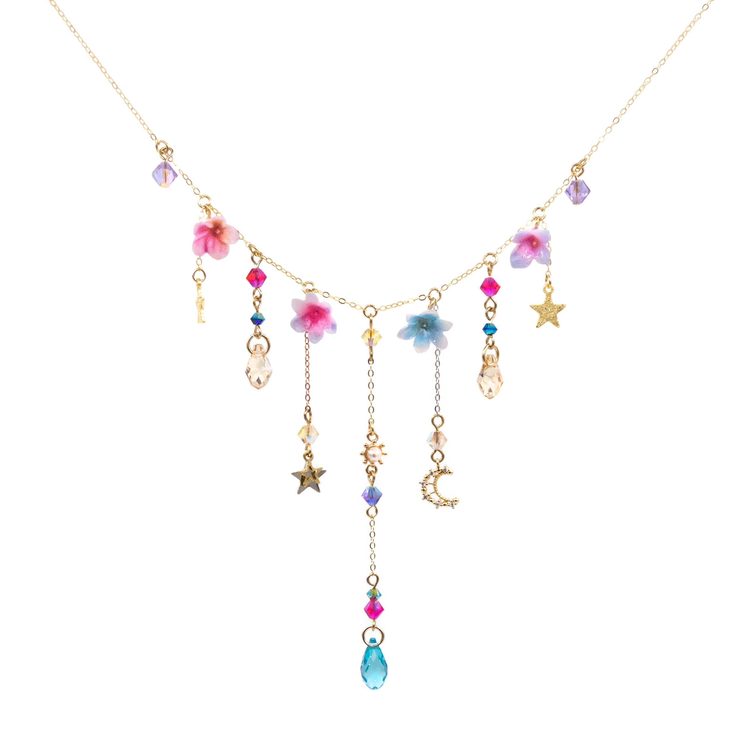 Luna Trio Gold-Plated 925 Silver Necklace Set