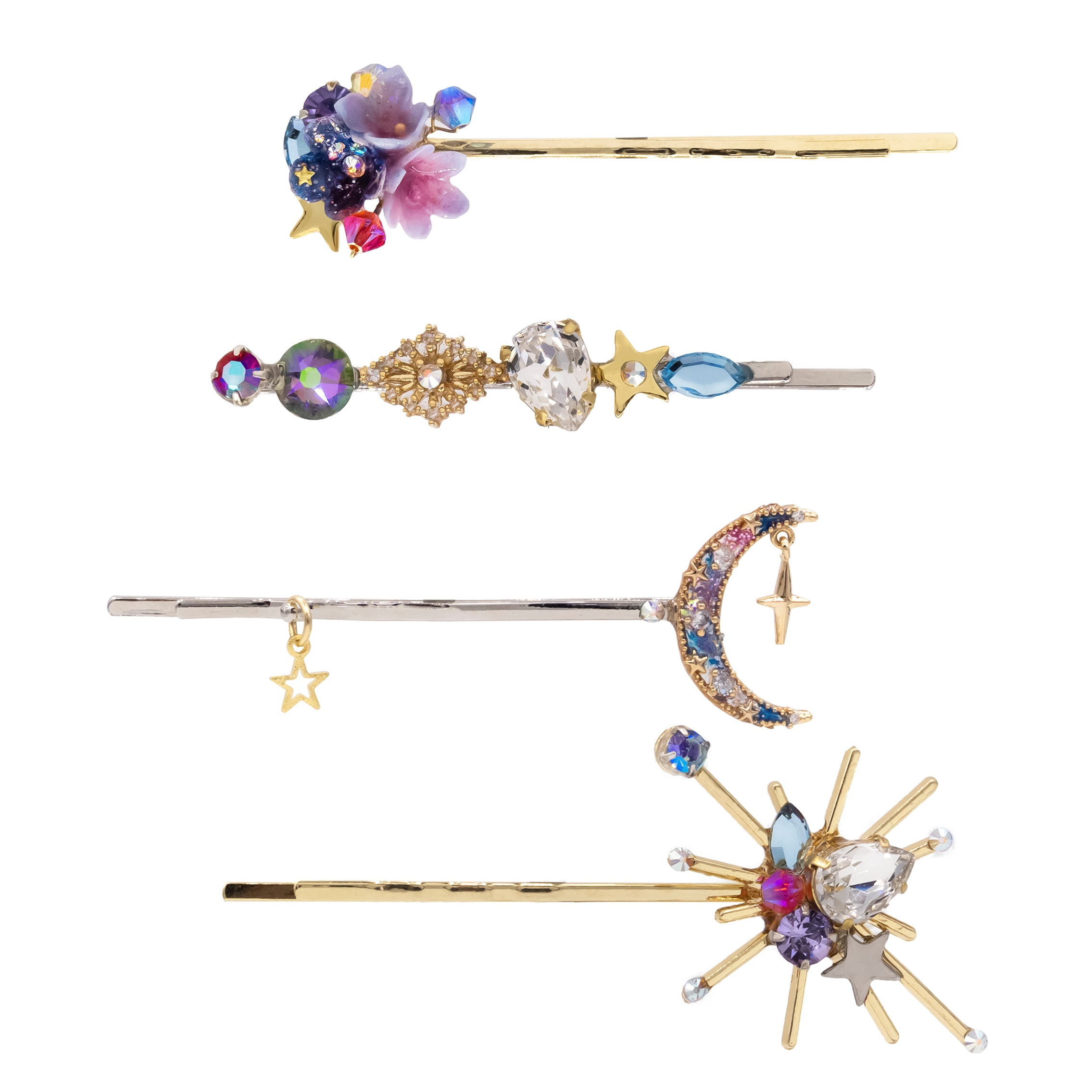 Starry Garden Gold-plated Hair Clip Set