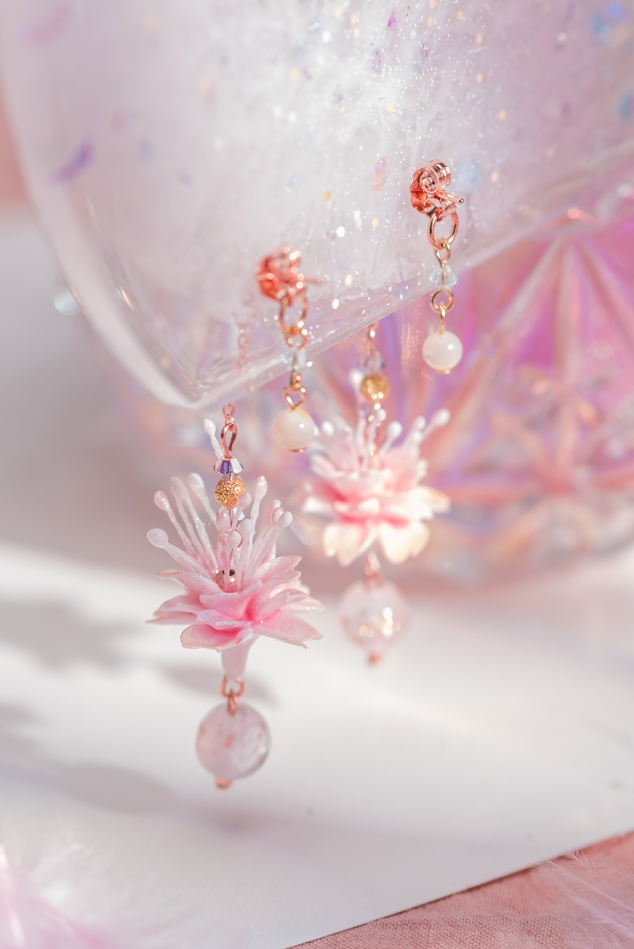 The Moment Yae Sakura Rose Gold-Plated 925 Silver Earrings