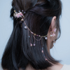 Sakura Shore Hair Comb with Detachable Chain
