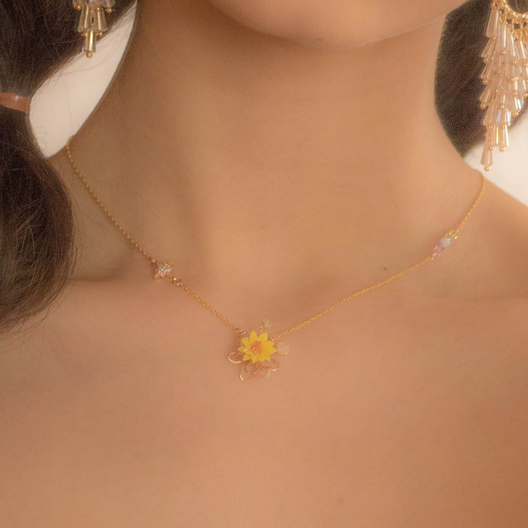 Sunflower Gold-plated 925 Silver Collar Necklace