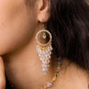 Sunshower Crystal Petals Gold-plated 925 Silver Earrings