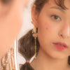 Sunshower Asymmetrical Gold-plated 925 Silver Earrings