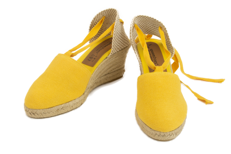 Valenciana - ribbon-tie MEDIUM wedge espadrille (7.5 cm heel)