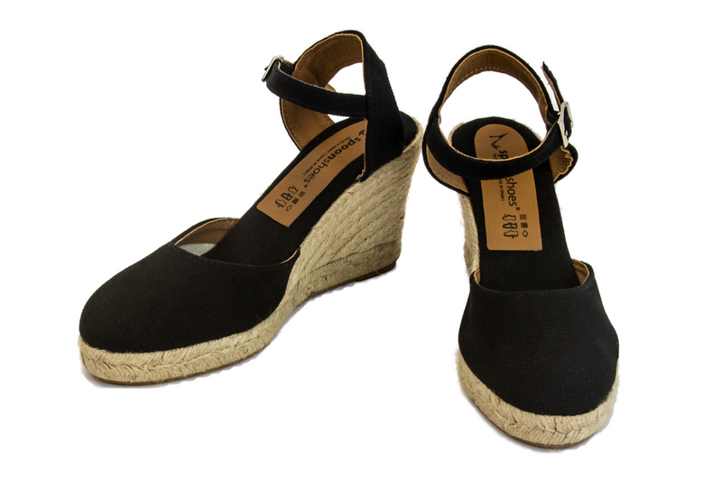 Rafaella - ankle strap HIGH wedge espadrille