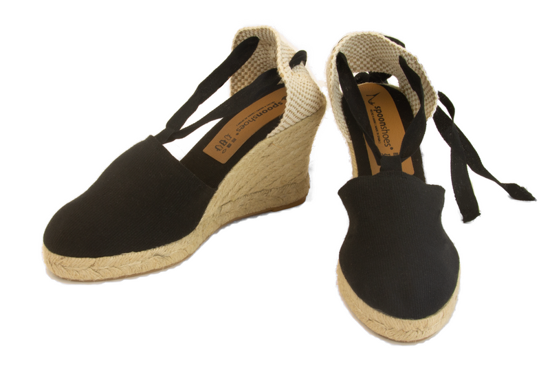 Valenciana - ribbon-tie HIGH wedge espadrille (9 cm heel)