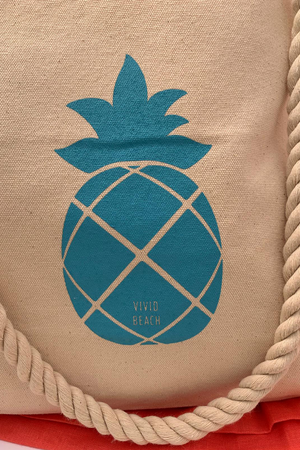 Vivid Beach Pineapple Beach Bag