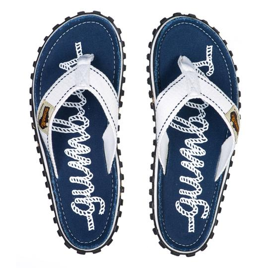 Rope - Gumbies Islander canvas flip flop