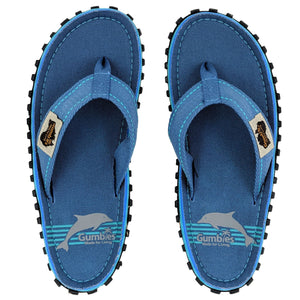 Blue Pool - Gumbies Islander canvas flip flop