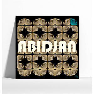 "Affiche style rétro ""Abidjan"" - collection ""My African Vintage"""